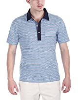 Zobello Men's Polo (21004B_Blue Red_Small)