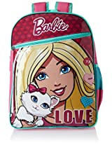 Barbie Pink and Turquoise Children's Backpack (MBE - MAT018)
