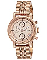 Fossil Analog Brown Dial Unisex Watch ES3380