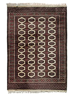 Semi Antique Bokhara Rug, Cream/Navy/Pink/Blue, 5' 2