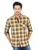 KILLER Brown Cot Casual Shirt