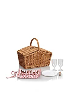 Picnic Time Piccadilly Picnic Basket with Service for 2 (Natural)