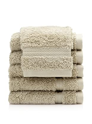 Royal Ascot by Chortex Set of 6 Wash Cloths, Sage