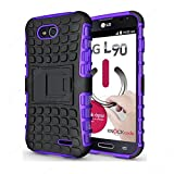 CaseMachinee Flip Kick Stand Hard Dual Armor Hybrid Bumper Back Case Cover For LG L90 D410 Dual Sim - Purple