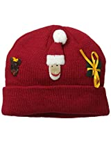 Kidorable Little Girls' Christmas Hat, Red, One Size