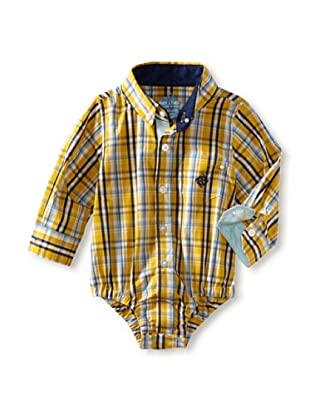 Andy & Evan Baby Boys Shirtzie (Yellow Plaid)