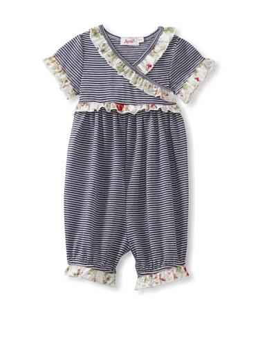 Jupon Baby Karen Short Sleeve Kimono Romper (Blue)