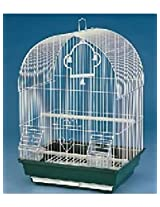 All4Pets Bird Cage (Wire-White, Pan-Green/Blue/Purple)