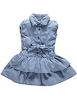 Oye Denim Dress With Layered Frill