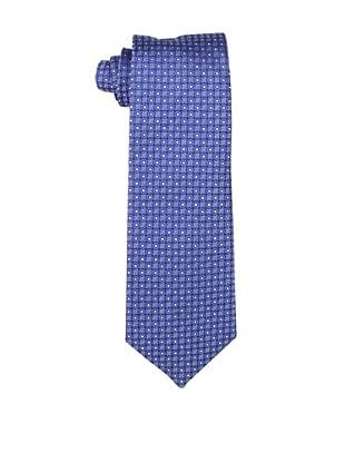 Yves Saint Laurent Men's Dot Grid Tie, Blue