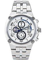 An3450-50A White/White Chronograph Watch CITIZEN