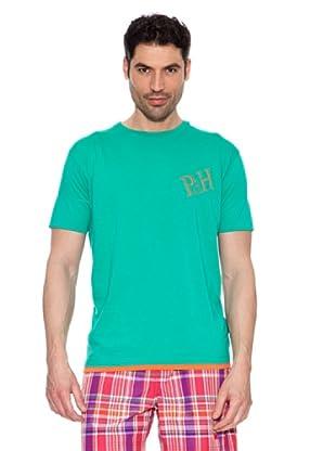 Pedro del Hierro Camiseta Contrastes (Verde agua)