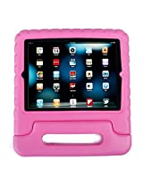 HDE Shock Proof iPad Case for Kids Bumper Cover Handle Stand for Apple iPad 2 iPad 3 iPad 4 (Light Pink)