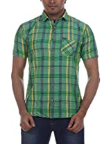Fashionbean Men's Casual Shirt (CS1268A_XXXL, GREEN, XXXL)