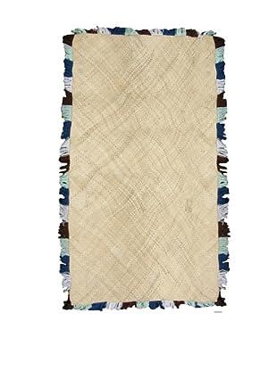Bazaar Mat, Blue/White/Black
