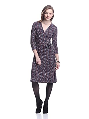 Leota Women's Perfect Faux Wrap Dress (Spice Plaid)
