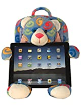 Dean Designs Children's Tablet Teddy Bear Stand and Backpack, Blue