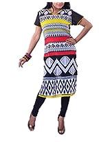 Riiti Designs Women's Georgette Kurti (Multi Colour) (X-Large)