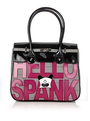 Hoy Collection Borsa Clarissa Hello Spank Lettering (Avorio/Nero)