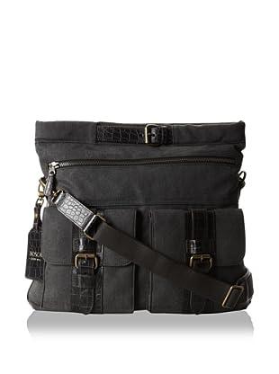 Bosca Men's Field Explorer Bag (Gray/Dark Brown)