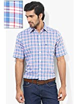 Blue Slim Fit Casual Shirt Allen Solly