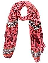 MALTDZ Women's Polyester Scarf (Multicolour)