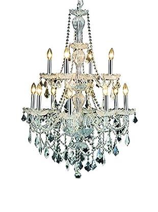 Crystal Lighting Giselle 12-Light Chandelier, Chrome
