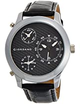 Giordano Analog Black Dial Men's Watch - 60067 BLACK