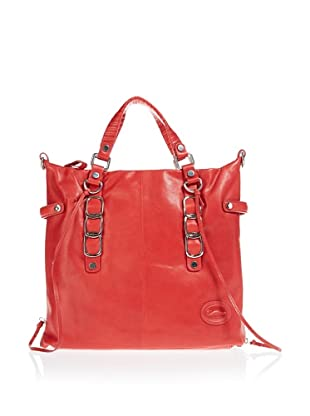 Borella Leder Tote-Bag (Rot)