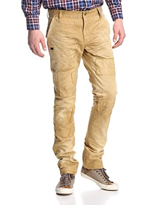 PRPS Goods & Co. Men's Paint Stained Rip-And-Repair Chino (Khaki)