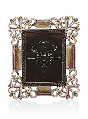 D.L. & Co. Jewel-Encrusted Picture Frame (Copper/Multi)