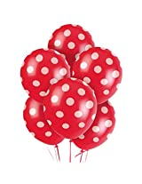Tiger 50154 Polka Dot Large Balloon Red (Pack Of 30)