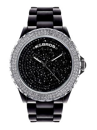 K&BROS 9554-1 / Reloj de Señora  con correa de plástico negro