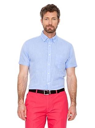 Cortefiel Camisa Lino (Azul)