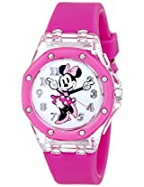 Disney Kids' MN1130 Minnie Mouse Watch with Pink Plastic Band