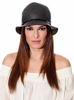 Cortefiel Sombrero Charol (Negro)