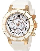 a_line Watches, Women's Marina Chrono White Dial Rose Gold Tone Case White Silicone, Model 20102DV