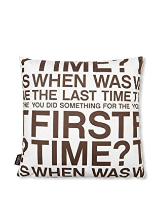 Inhabit First Time Pillow (White/Chocolate)