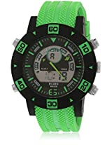 Dmf-007-Gr01 Green/Black Analog & Digital Watch Flud