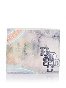 Diesel Men's Money-Money Hiresh Small Wallet (Grey)