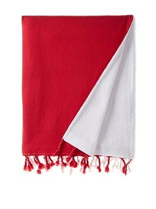 Nine Space Dip Dye Fouta Terry Towel, Red