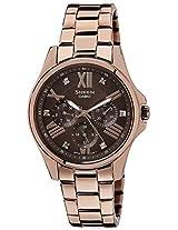 Casio Sheen Analog Brown Dial Women's Watch - SX152