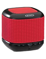 Jensen SMPS621RD Portable Bluetooth Wireless Speaker, Red