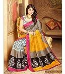 Kritika Kamra Silk Beige Printed Saree - PO-10920A-6