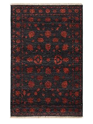 Darya Rugs Ikat Oriental Rug, Red, 3' 1
