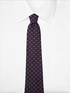Hermès Men's Loops Tie, Navy/Burgundy/Gold, One Size