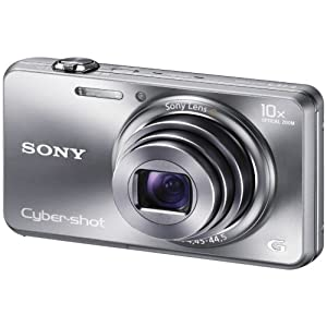 Sony Cyber-shot DSC-WX150 18MP Point and Shoot Camera (Silver) with 10x Optical Zoom, 4GB Card and Camera Case