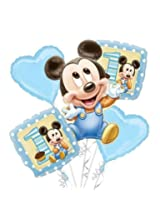 My Party Suppliers Mickey Mouse Birthday Balloon Bouquet / Birthday Balloon Decoration