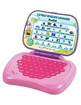 Prasid Lovely English Learner Kids Laptop, Pink/Purple