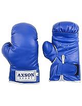 Axson Unisex PVC Leather Boxing Gloves 8 Oz Blue